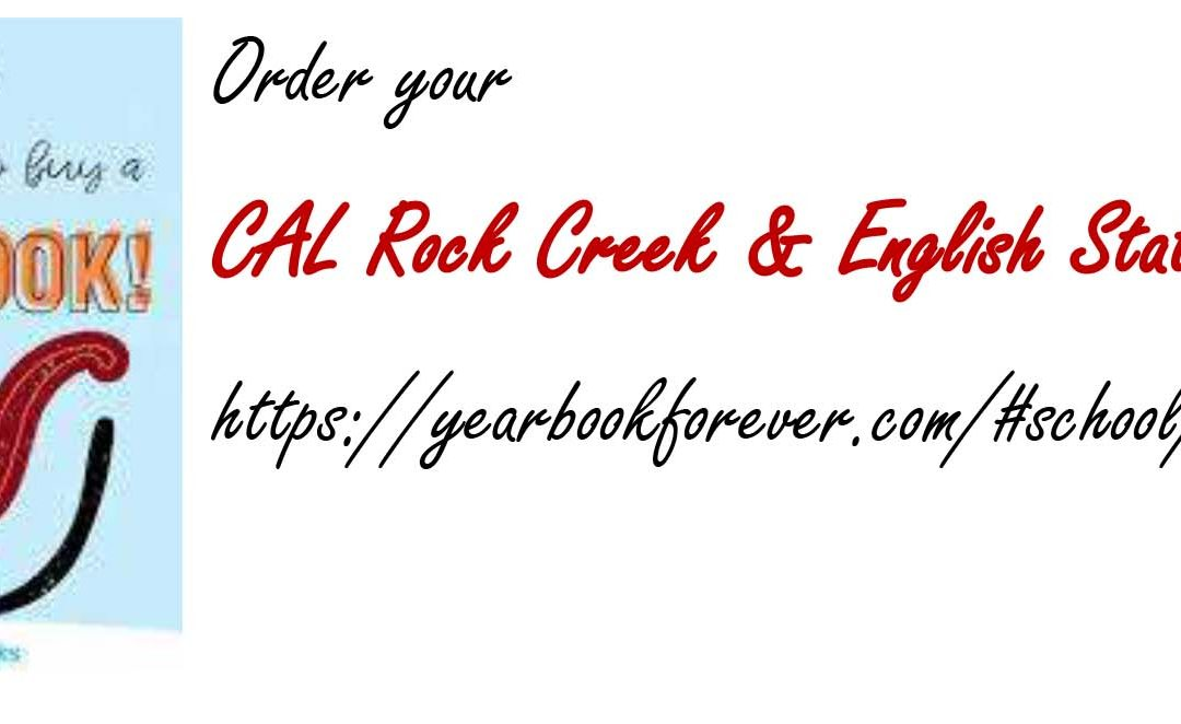 Order Your English Station and Rock Creek Elementary Yearbook Today!
