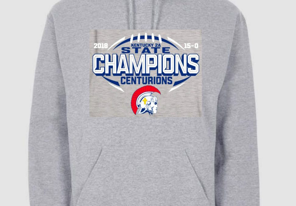 2018 State Football Champion Hoodie Pre-Order Forms Now Available