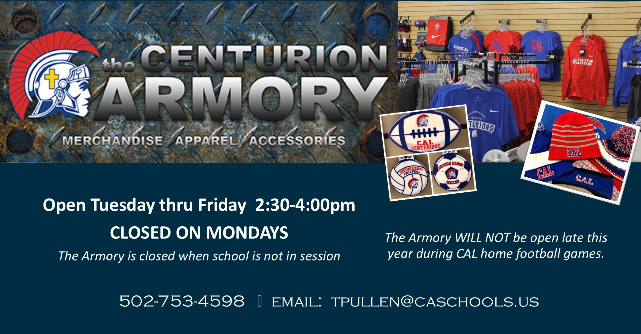 Christian Academy School System | Christian Academy of Louisville | Centurion Athletics | Armory
