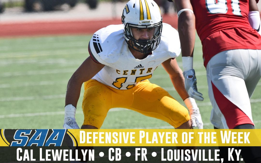 CAL Football Alum Named SAA Defensive Player of the Week