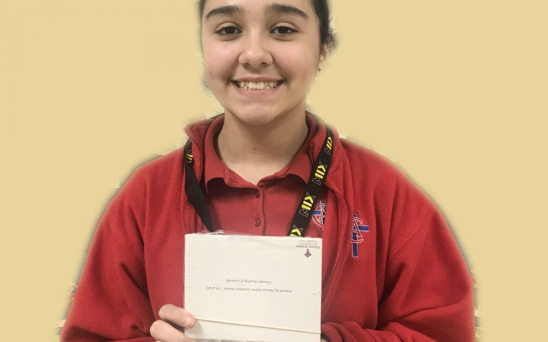 Congratulations to Marissa Sedoris – 7th Grade!