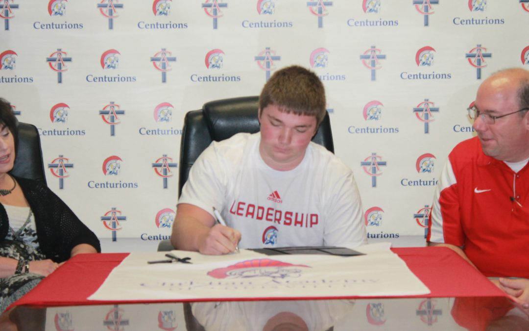 Andrew Packer Signs to Play Football at Thomas More College