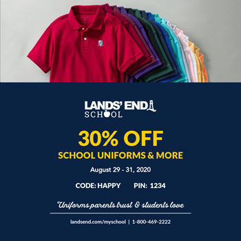 Christian Academy School System | Lands' End | 30% OFF School Uniforms, August 29-31