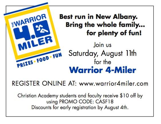 Warrior 4-Miler, August 11