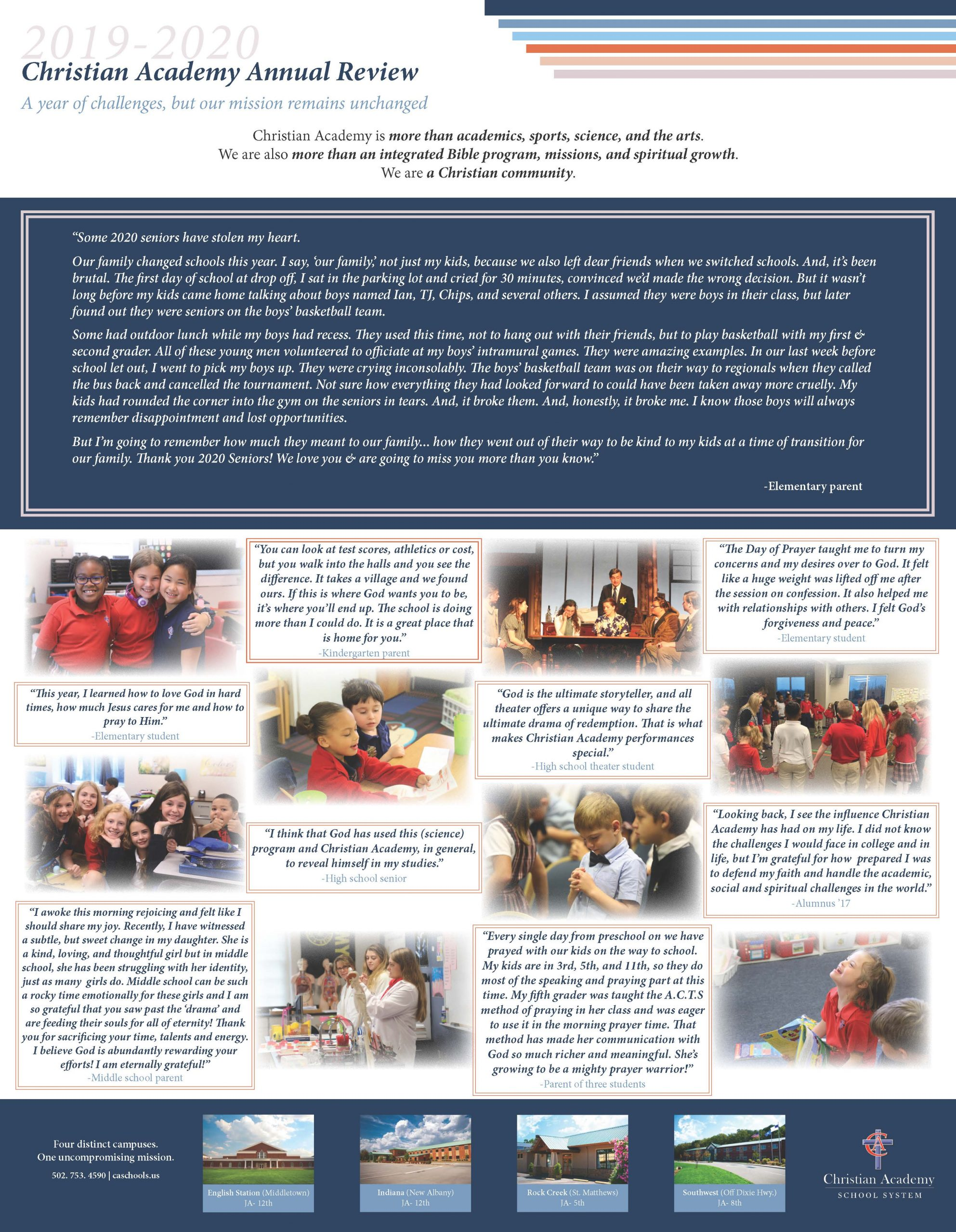 Christian Academy School System | 2019-2020 Annual Review