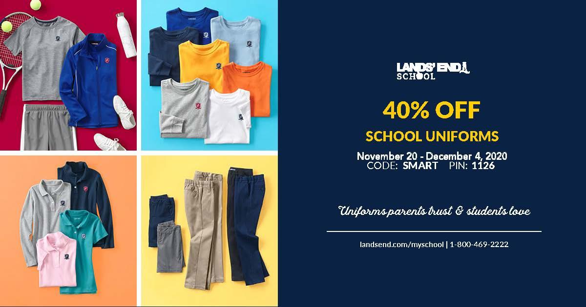 Christian Academy School System | 40% OFF Lands' End School Uniforms | November 20 - December 4