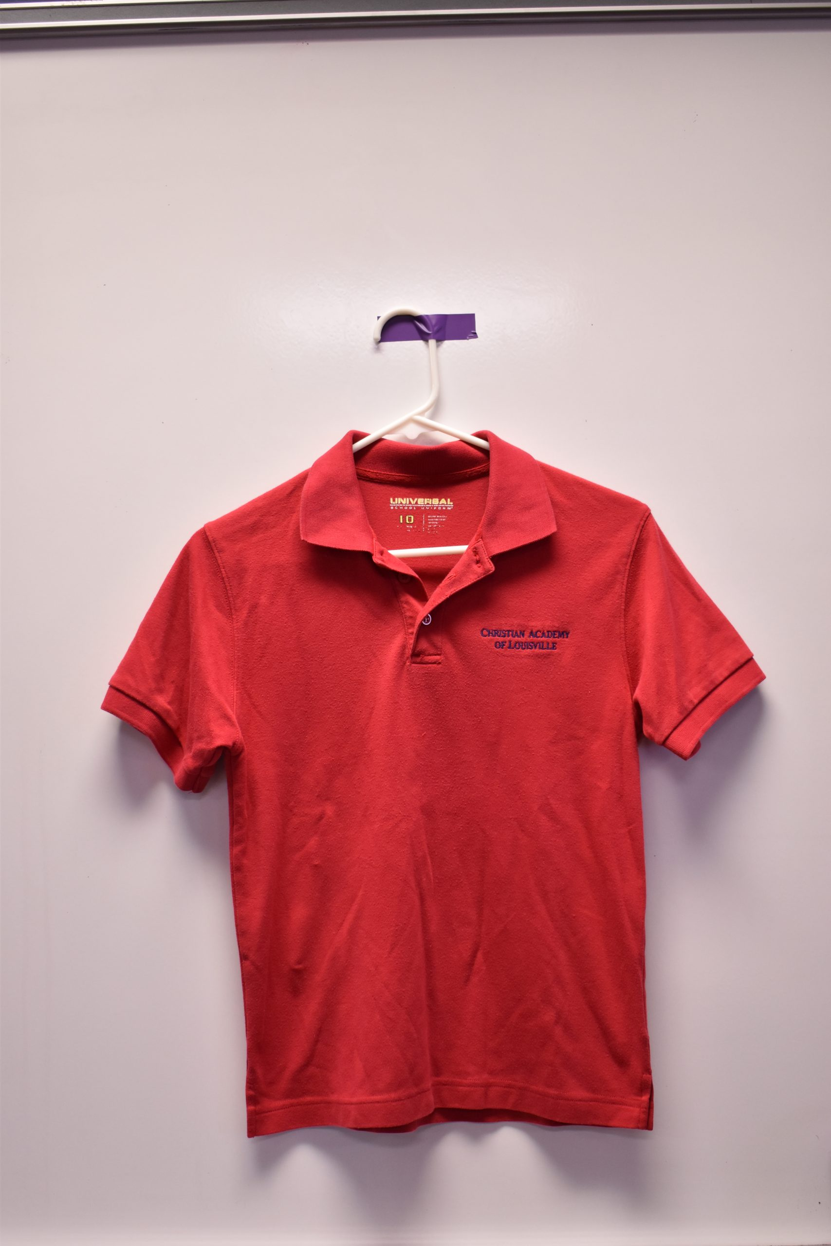 Christian Academy School System | Christian Academy of Louisville | Virtual Uniform Closet | Uniform Polo | Red Short Sleeve | Old Logo