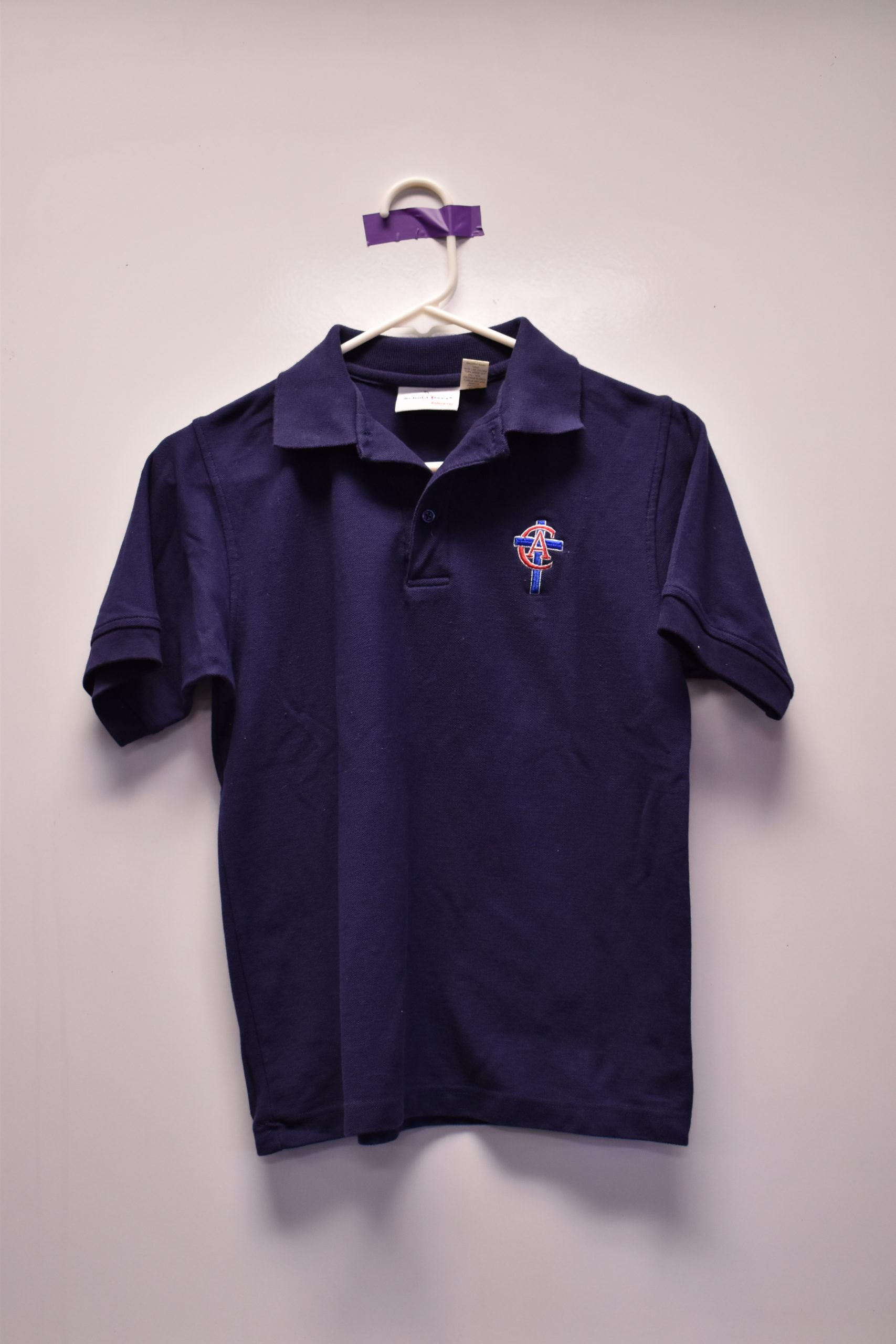 Christian Academy School System | Christian Academy of Louisville | Virtual Uniform Closet | Uniform Polo | Blue Short Sleeve | New Logo