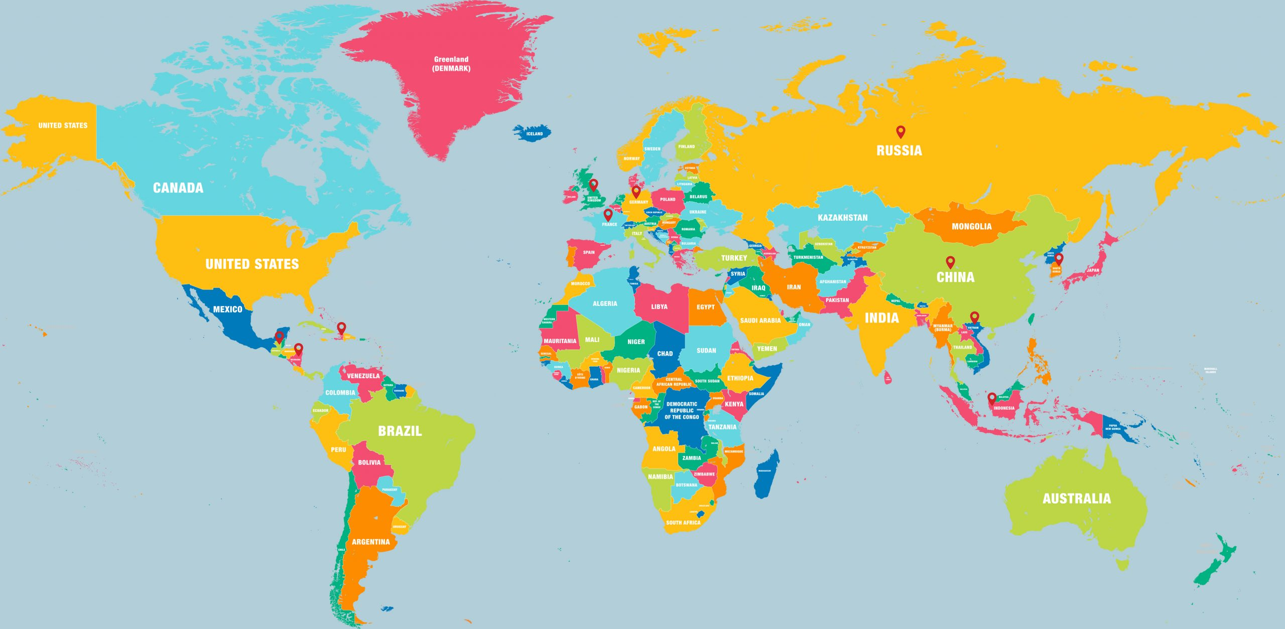 Christian Academy School System | International Student Program | Map of Students Home Countries