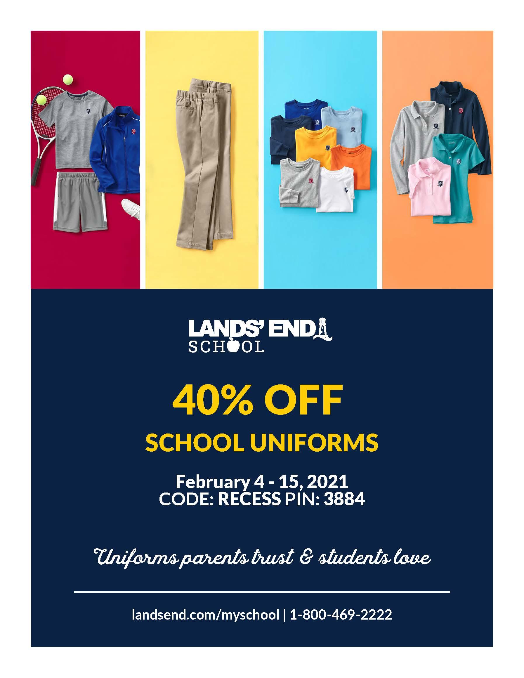 Christian Academy School System | Lands' End School Uniforms | 40% OFF | February 4-15