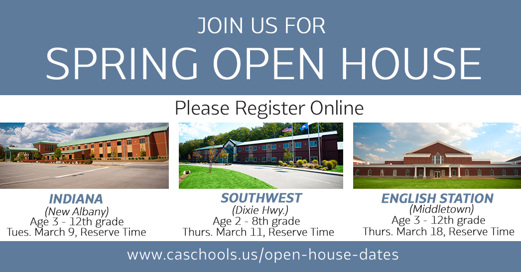 Christian Academy School System | Spring 2021 Open Houses