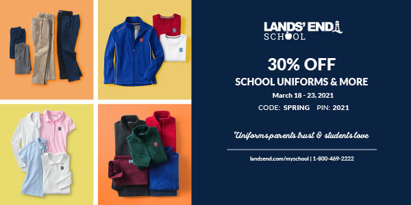 Christian Academy School System | Lands' End Uniform | 30% OFF | March 18 - 23