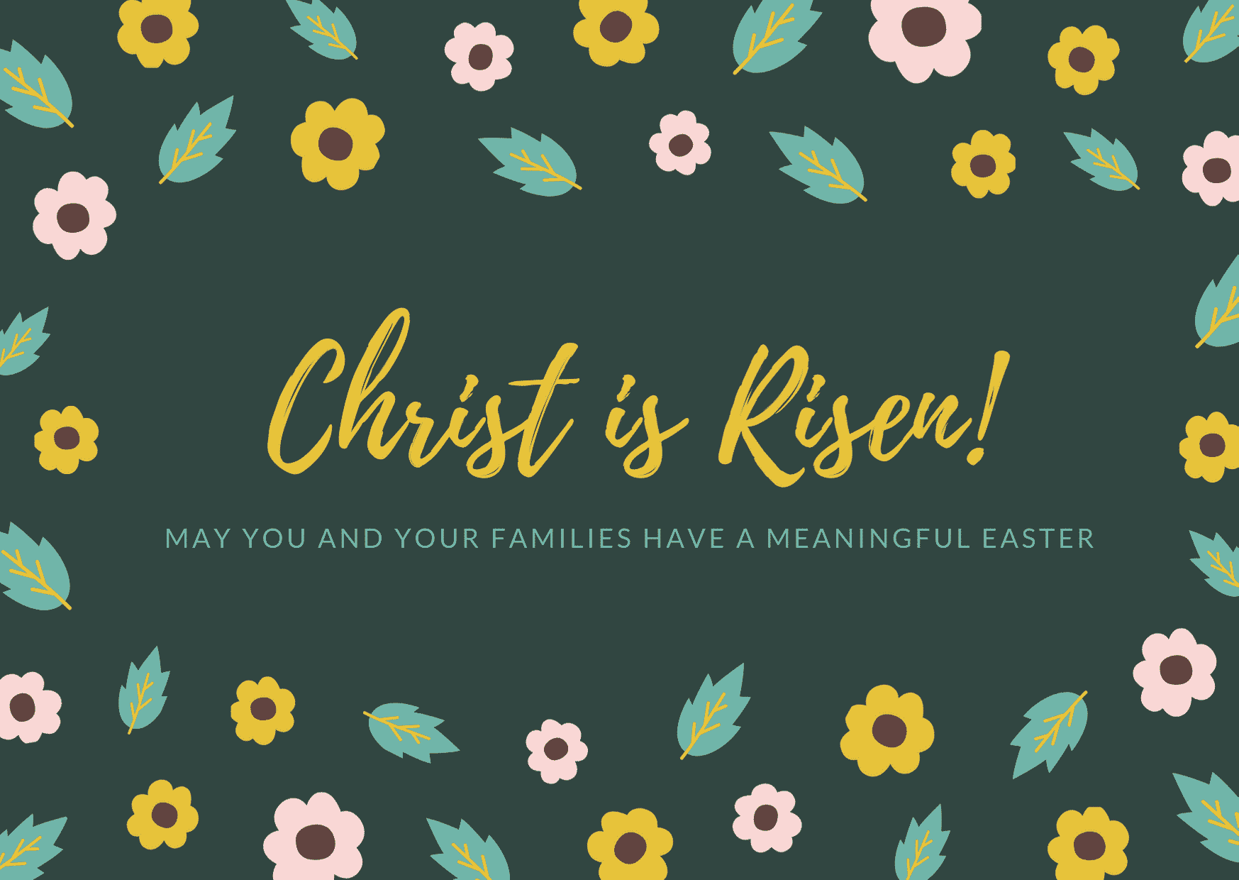 Christian Academy School System | Happy Easter | Christ is Risen!