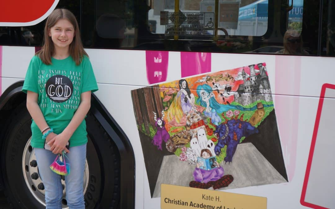 Christian Academy School System | Christian Academy of Louisville | Southwest Campus | K Hunter | Derby Festival Design a Bus Contest Winner 2021