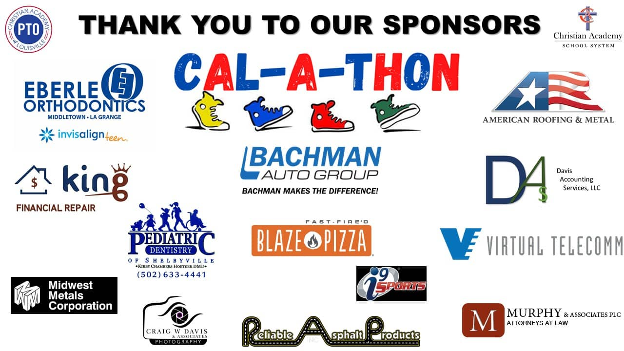 Christian Academy School System | Christian Academy of Louisville | English Station Campus | CAL-A-THON | Thank You to Our Sponsors