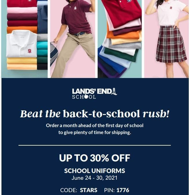 Beat the Back-to-School Rush with Lands' End, June 24-30