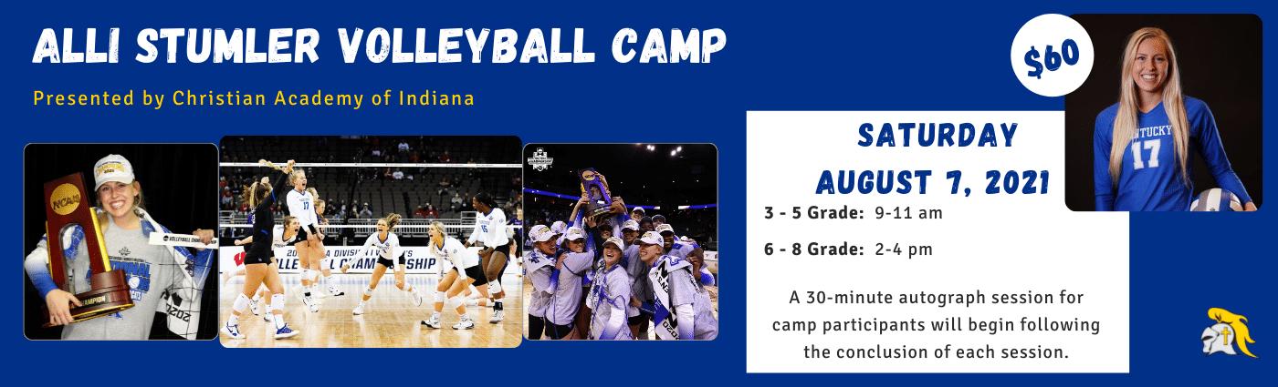 Christian Academy School System | Christian Academy of Indiana | Warrior Athletics | Alli Stumler Volleyball Camp | 2021