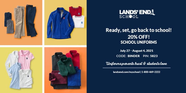 Christian Academy School System | Lands' End Uniforms Sale | Ready, Set, Go Back to School | July 27-August 4