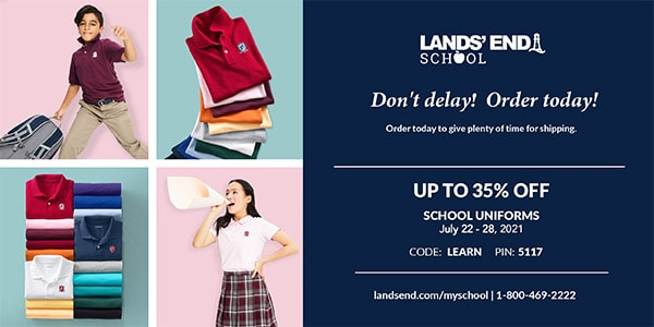 Christian Academy School System | Lands' End Uniforms | July 22-28, 2021