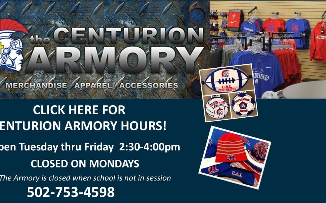 2021 Centurion Armory Hours