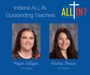 Christian Academy School System | Christian Academy of Indiana | 2021-2022 ALL IN! Annual Fund Outstanding Teachers