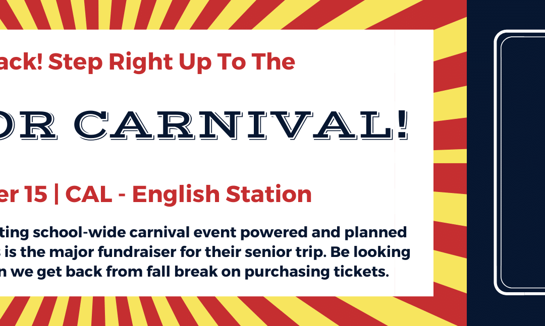 Christian Academy School System | Christian Academy of Louisville | English Station Campus | 2021 Senior Carnival Save the Date | October 15