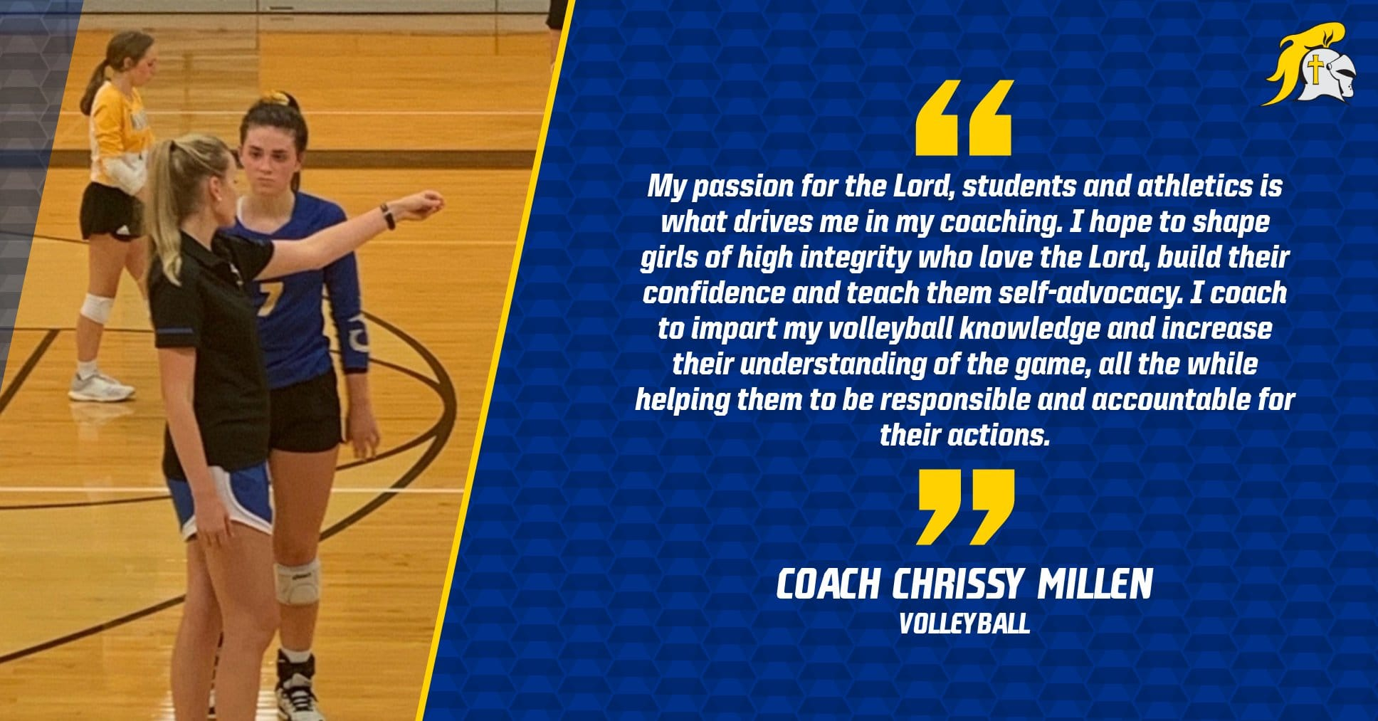 Christian Academy School System   Christian Academy of Indiana   Volleyball   Coach Millen's Transformational Purpose