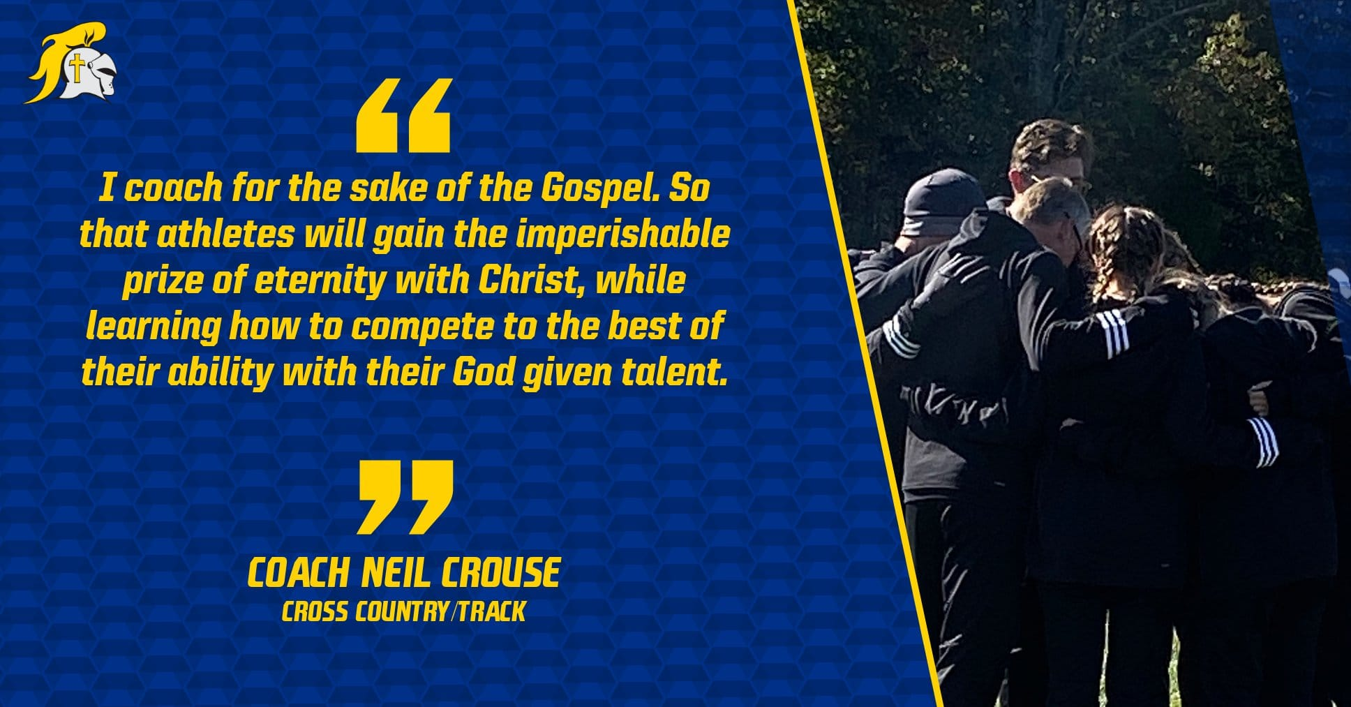 Christian Academy School System | Christian Academy of Indiana | Cross Country and Track | Coach Crouse's Transformational Purpose