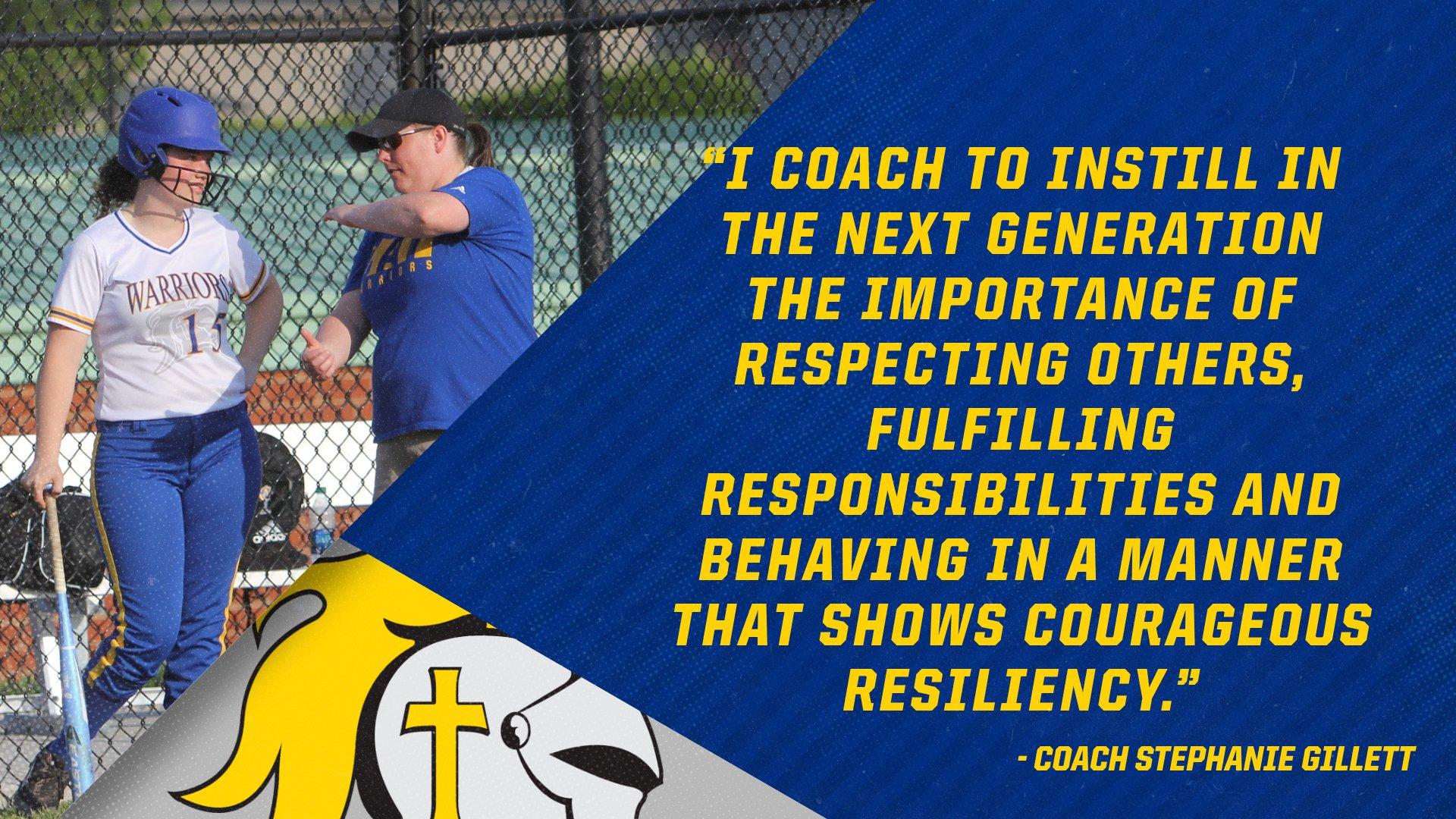 Christian Academy School System | Christian Academy of Indiana | Softball | Coach Gillett's Transformational Purpose